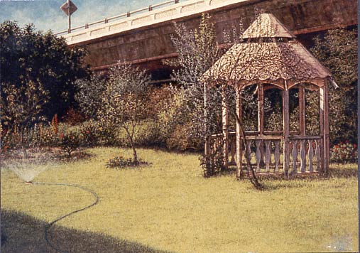 Gazebo, a painting by Janet Kruskamp