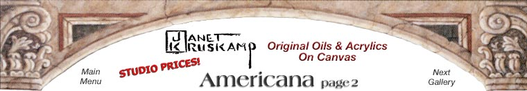 Janet Kruskamp's original oil paintings of Americana.