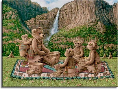 The Basket Weavers by artist Janet Kruskamp
