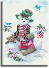 Snowman Teddy Bears I